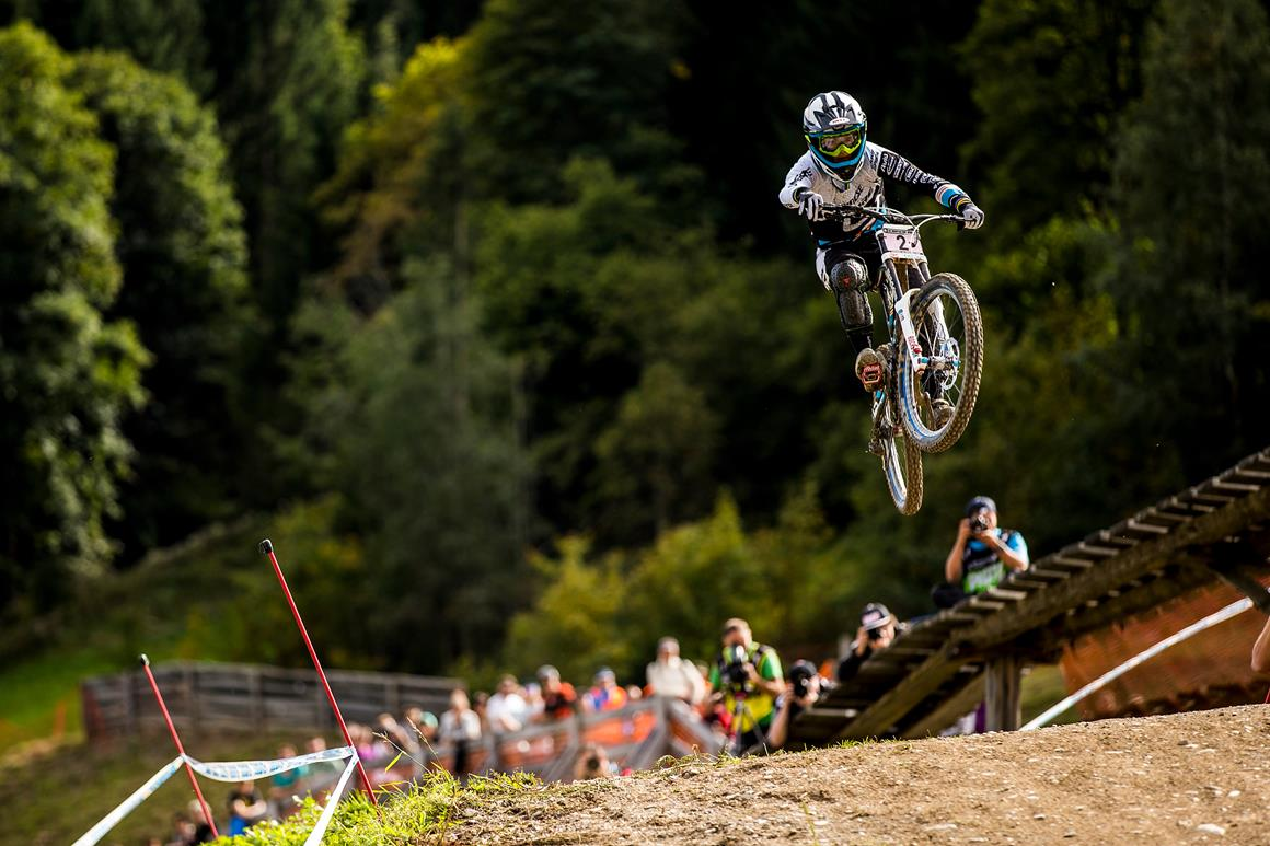 Ragot on her way to win in Leogang